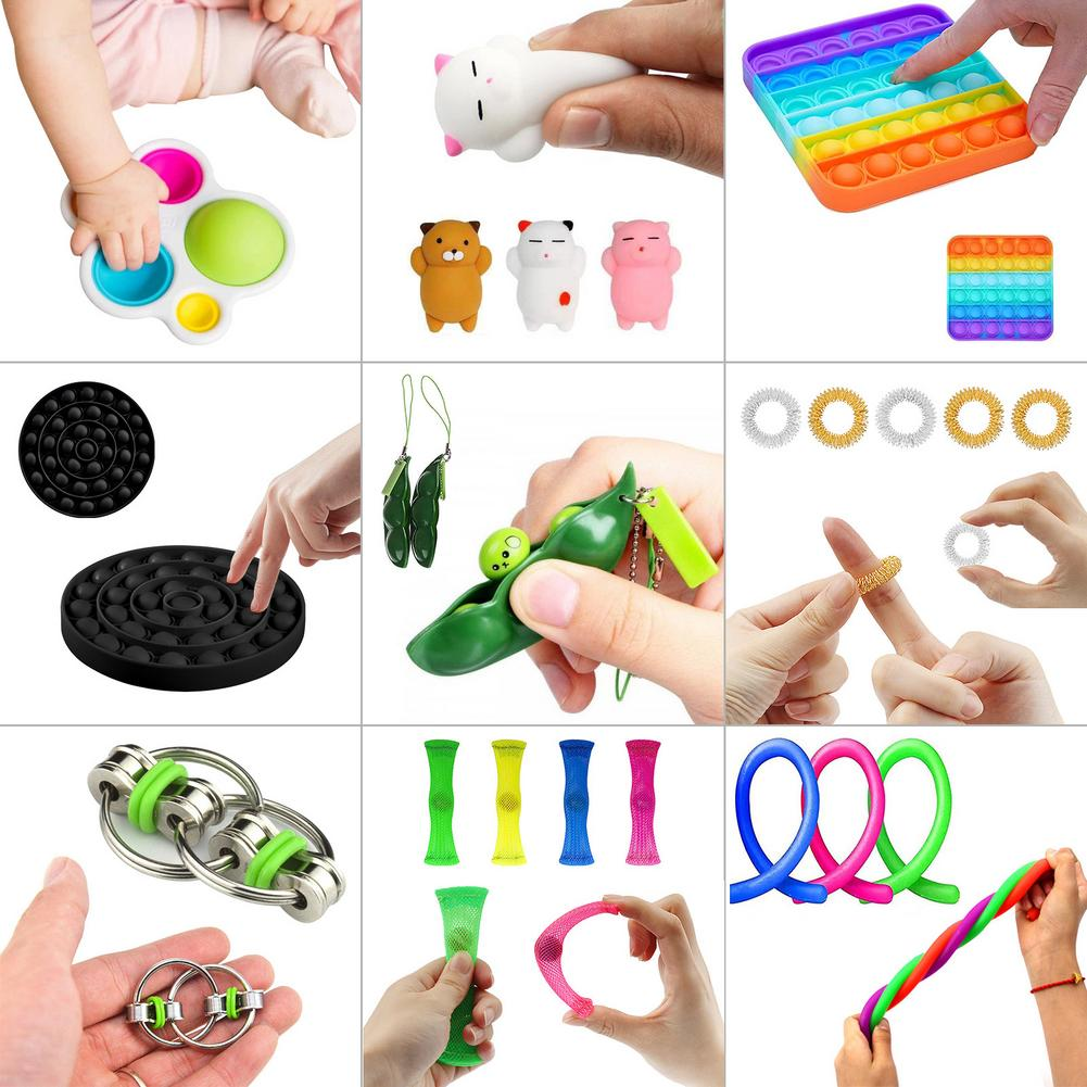 23 IN 1 Fidget Toys Pack Squishy For Adults Pops It Sensory Antistress Simple Dimple Kawaii Stress Relief Toys For Kids Toy enlarge