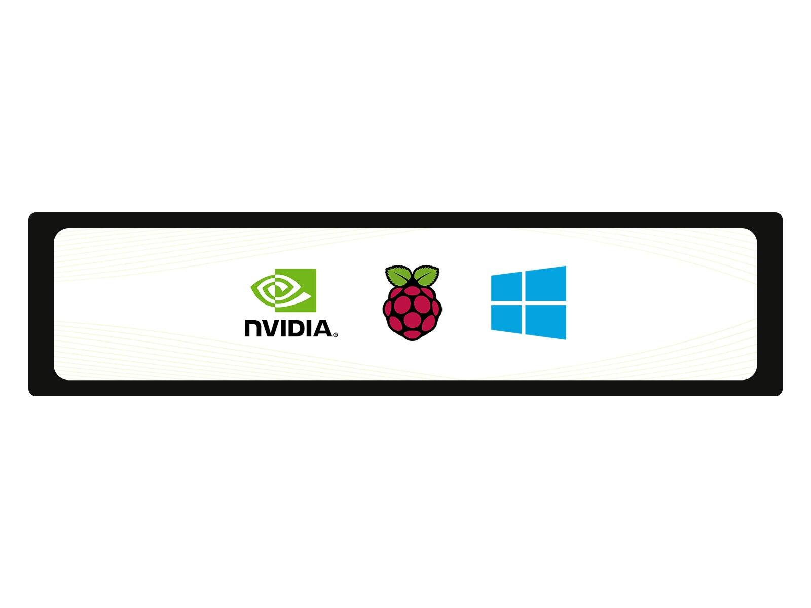 Waveshare 11.9 بوصة بالسعة شاشة تعمل باللمس LCD ، 320 × 1480 القرار ، IPS ، تشديد غطاء زجاجي ، منفذ USB ، يدعم التوت بي