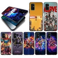 marvel avengers assemble silicone cover for huawei honor 10i 10 9c 9a ru 9x 9n 9s 9 pro lite play 3e v9 black phone case