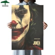 DLKKLB-affiche de film Style Joker   Papier C Kraft, autocollant mural DC de Style Vintage Batman de Style ennemi, peinture décorative pour la maison, 51x36cm, nouvelle collection