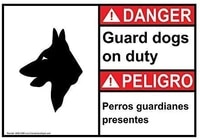 funny sarcastic metal tin sign man cave bar decor 12 x 8 inches danger sign beware of dog info in english spanish white funny
