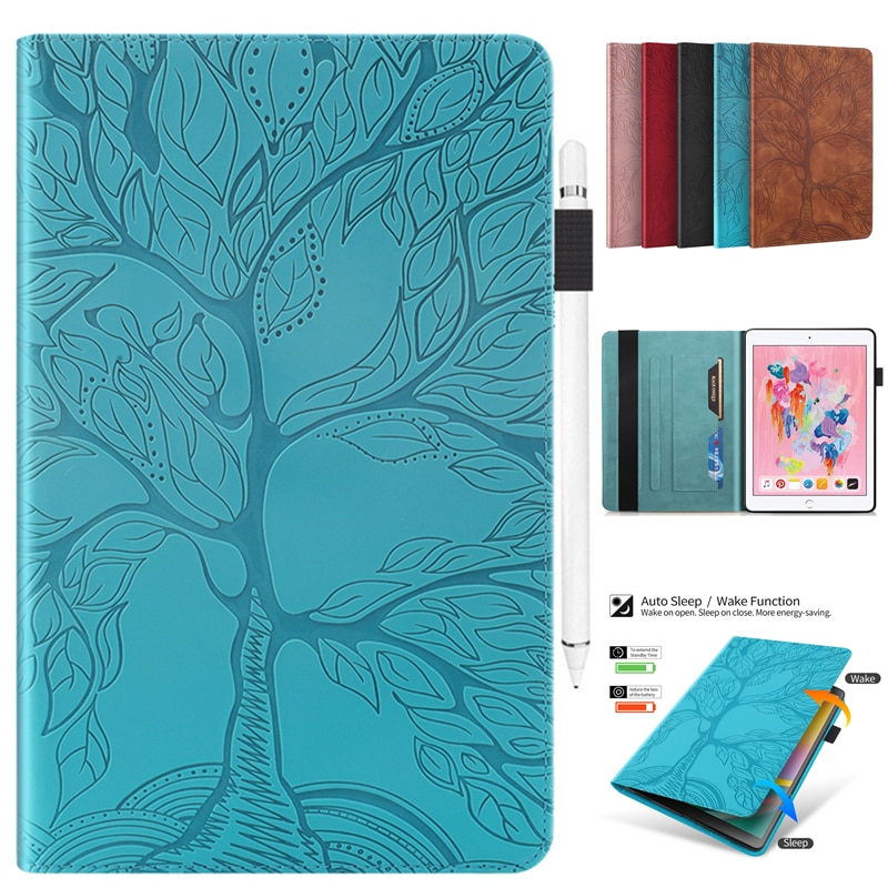 Coque For Apple Ipad Air 1 5 Case A1474 A1475 A1476 Embossing Tree Leather Cover IPad 5th IPad5 9.7 inch