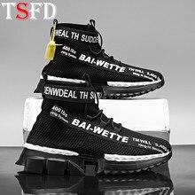 2020 Sport Schuhe Männer Atmungs Schwarz Socke Schuhe Laufende Schuhe der Männer Große Größe High Top Sneakers Männlichen Trainer Chaussure homme B2
