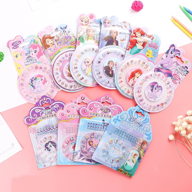 Disney Frozen 2 Makeup Nail Stickers Elsa Anna Sofia Girls Toys For Kids Disney Princesas Sticker Girl Accessories Jewelry Gift