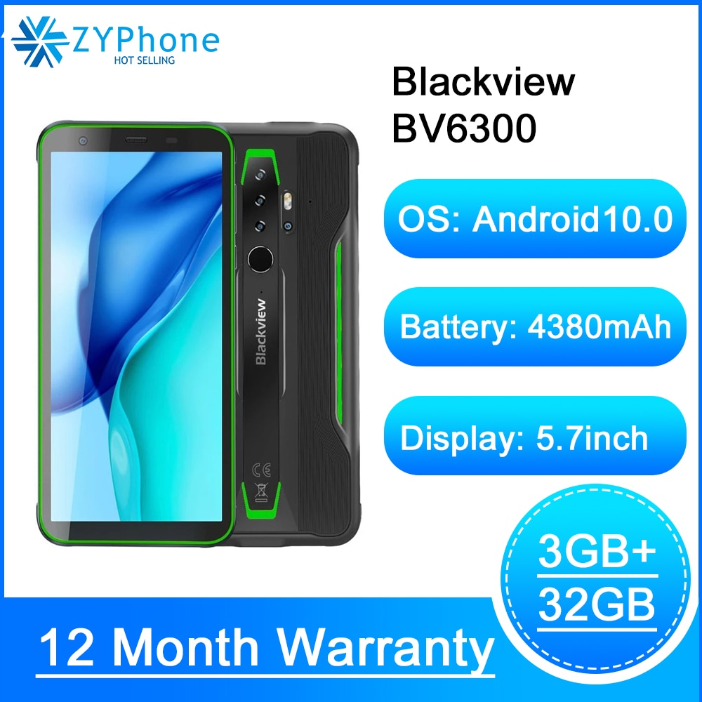 Nieuwe IP68 Waterdichte Smartphone 4380Mah 3Gb 32Gb Android 10.0 Nfc Otg Robuuste 4G Lte 13MP 5.7inch Mobiele Telefoon Blackview BV6300