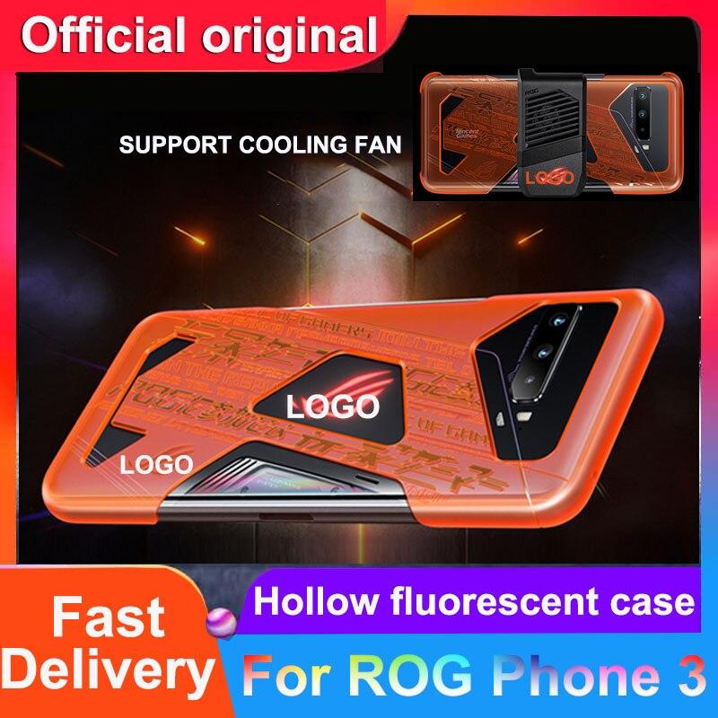 Funda de móvil Original para ASUS ROG PHONE 3 5G, funda de móvil para ROG 3, fundas de teléfono fluorescentes huecas para ASUS ROG 3 5G, funda rígida ROG3