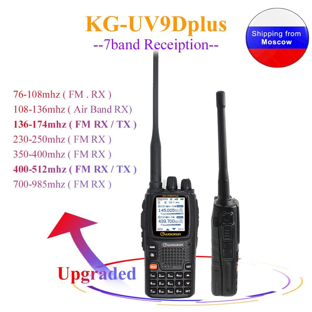 Wouxun KG-UV9D mais 7 faixas multi-frequência transceptor uv multi-funcional 136-174 & 400-512 mhz rádio ham dtmf walkie talkie