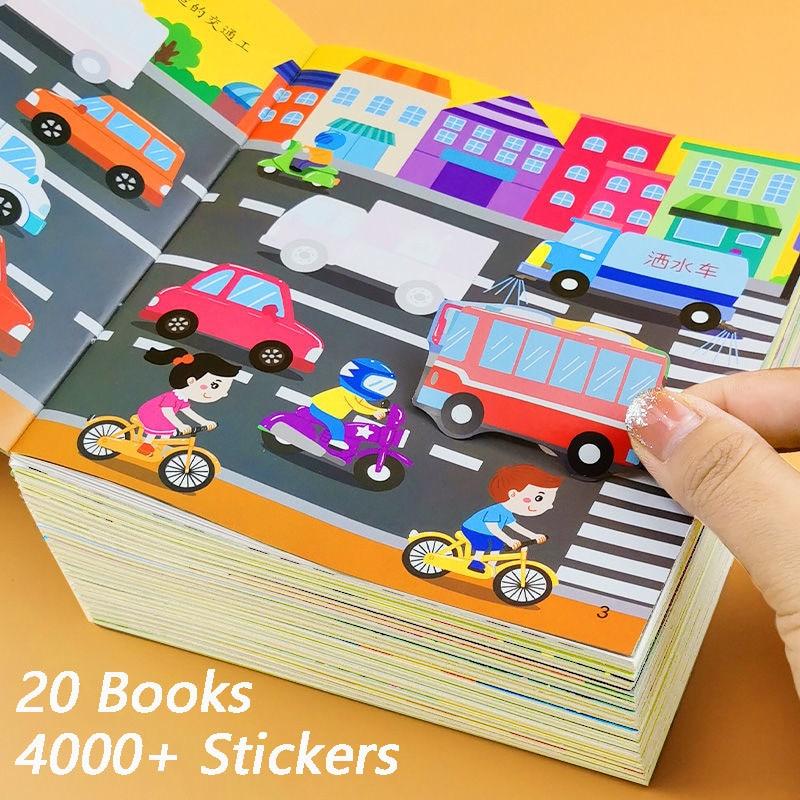20-libros-para-ninos-4000-hojas-pegatinas-de-anime-entrenamiento-de-concentracion-manga-dibujos-artisticos-color
