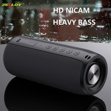 ZEALOT мощный Bluetooth динамик с басами, беспроводной портативный сабвуфер, водонепроницаемый звуковой бокс с поддержкой TF, TWS, USB флеш накопителя