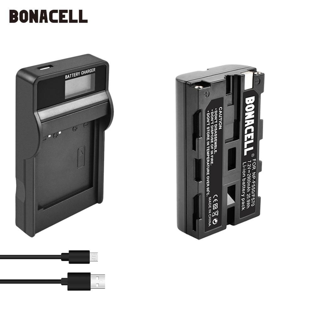 2900mAh NP-F570 NP-F550 NP-F330 NP F550 NP F330 batería + cargador USB con LCD para Sony CCD-SC55 CCD-TRV81 DCR-TRV210 MVC-FD81 Hi-8 L70
