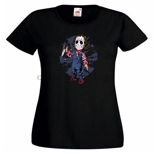 Jason chico Ladies impreso camiseta Luna máscara cuchillo divertido Voorhees Horror Murderer cool Casual Pride camiseta hombres Unisex moda