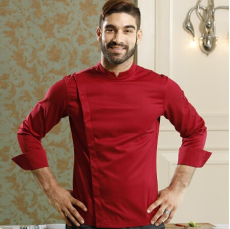 جديد أفضل مطعم الشيف جاكيتات طويلة الأكمام الفرنسية الراقية للمنافسة كوك الملابس المطبخ ملابس العمل الزي الرسمي
