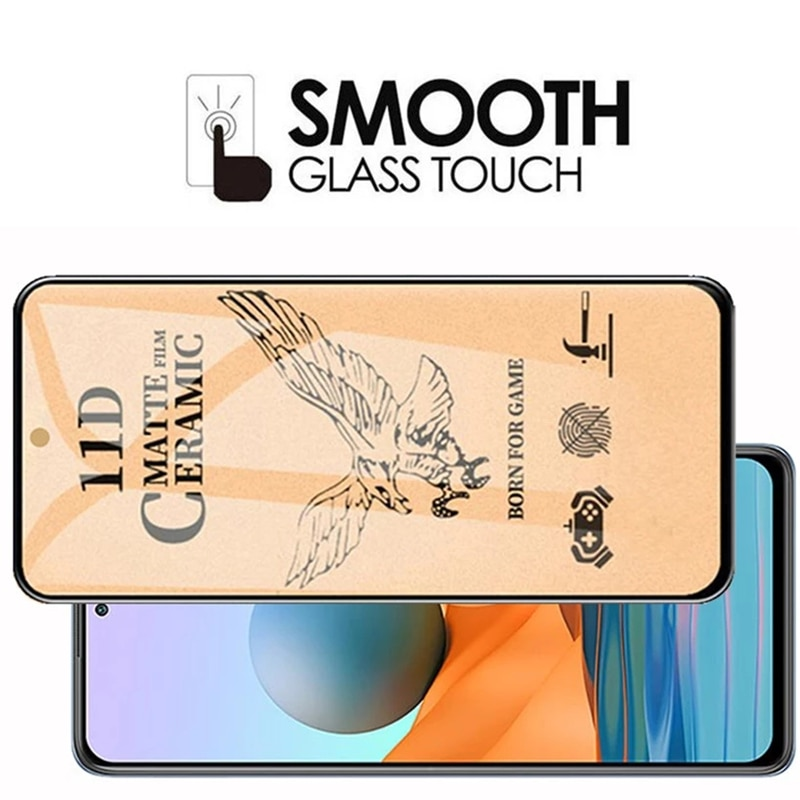 4-in-1 Matte Soft Ceramic Screen Protectors for Redmi Note 10 Pro Max 10S Camera Lens Protective Film for Redmi Note 9 Pro 9S 9T  - buy with discount