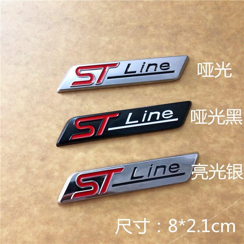Pegatina de coche, emblema deportivo, pegatina de insignia automática para el logotipo de la Línea ST, indicador lateral 10 Uds.