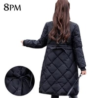 down parka womens long sleeve warm outerwear new winter quilted jacket down big yards lady jacket coat casual parkas ouc521