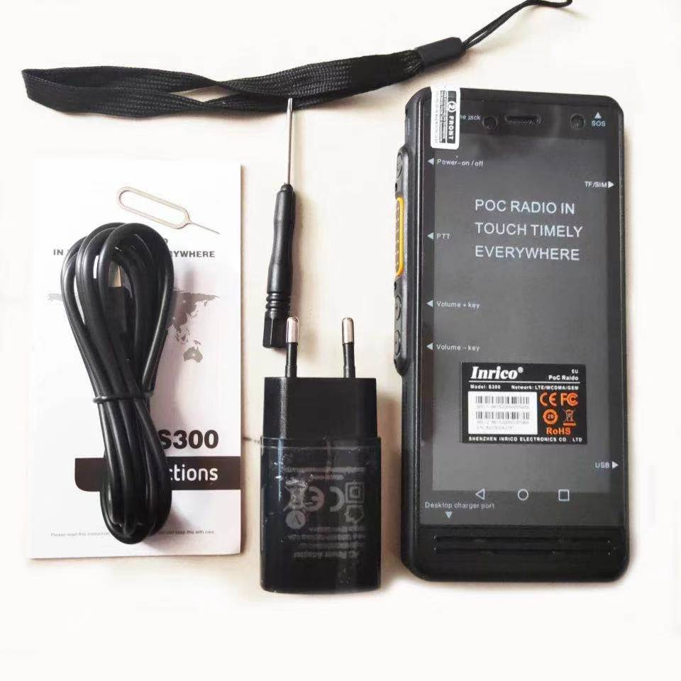 Inrico S300 4G Zello Network POC Radio Real PTT WiFi SOS GPS IP67 Android Walkie Talkie with Al Dual Cameras enlarge