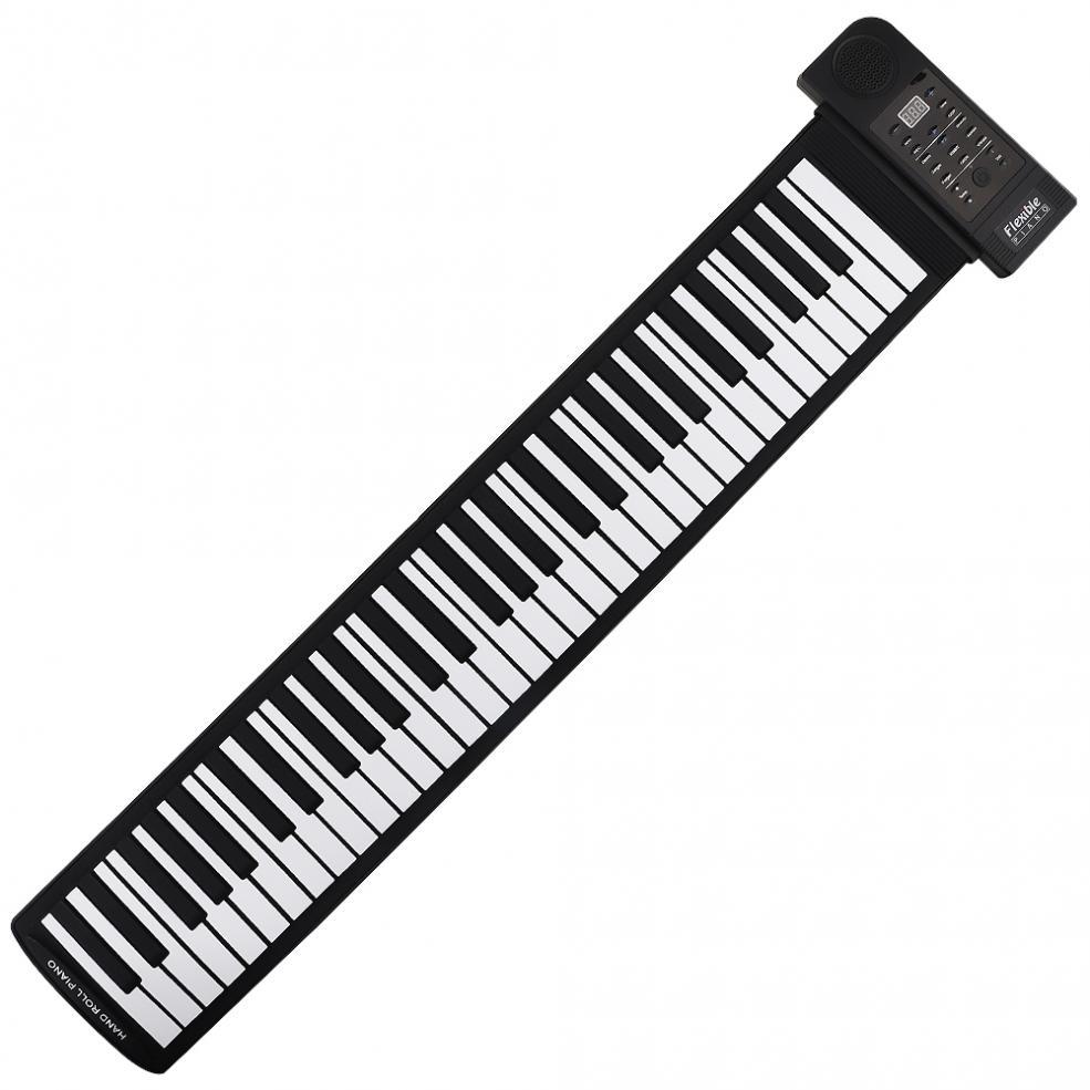 KONIX PU61S Flexible Digital Display 61 Keys 128 Tones 128 Rhythms Children Toys Electronic Roll Up Piano Built-in Speaker enlarge