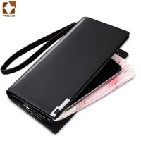 business long leather wallet men classic style credit card holder purse multi cards walet for men clutch bag cartera hombre