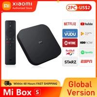 ТВ-приставка Xiaomi Mi TV Box S 4K Ultra HD Android TV 9,0 HDR 2 ГБ 8 ГБ WiFi Google Cast Netflix Smart Mi Box S медиаплеер