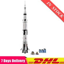 DHL IN Stock 37003 2009Pcs Creative Series The Apollo Saturn V Launch Vehicle Set Educational Building Blocks Bricks Toy