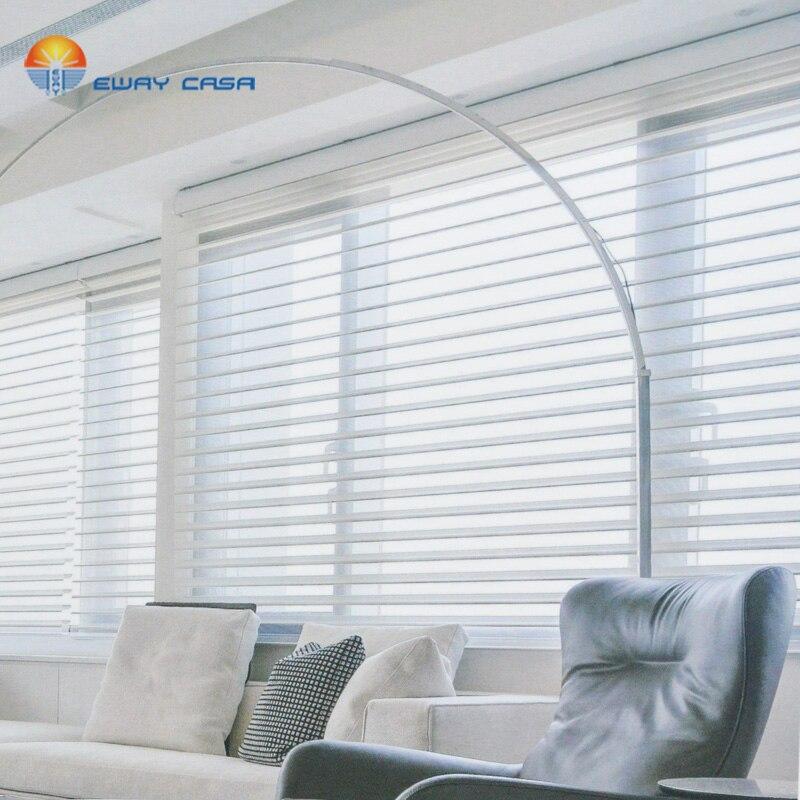 EWAY-persianas para ventanas de CASA, persianas ajustables de Color sólido para sala...
