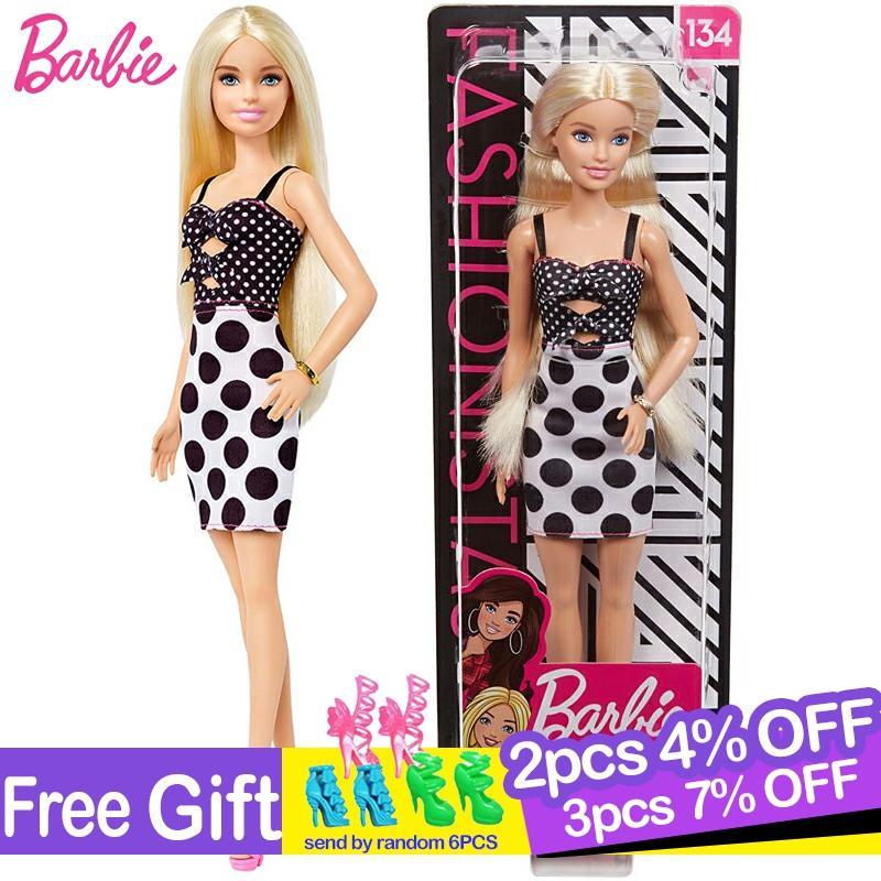Muñecas de moda originales de Barbie para niñas, ropa de moda, juguete...