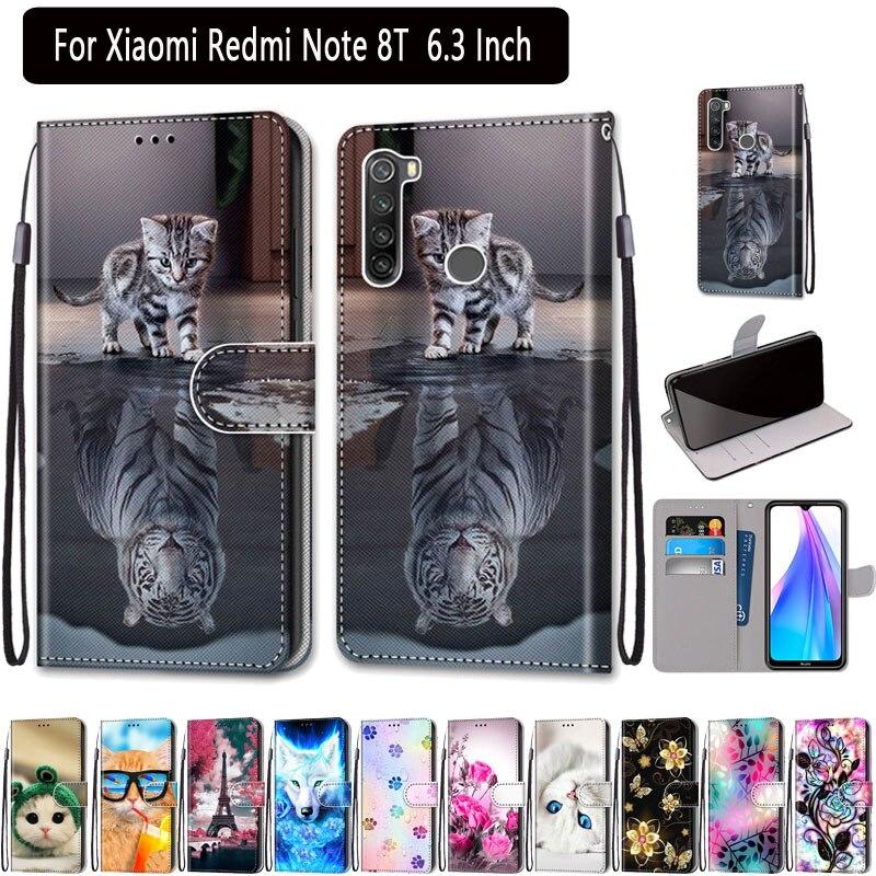 Funda de cuero para Redmi Note 8 T cartera caso para Xiaomi Redmi Nota 8 T caja del teléfono Flip magnético Fundas para Redmi Nota 8 T cubierta