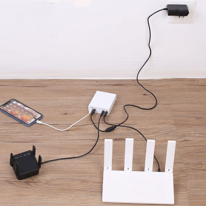 K1KA 8000Mah إمدادات الطاقة غير المنقطعة 5 فولت/9 فولت/12 فولت بطارية UPS صغيرة احتياطية عرام حامي لأجهزة التوجيه الحضور