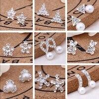 2021 women elegant small cute sweet earrings trendy zircon stud earrings for women fashion delicate micro jewelry party fashion