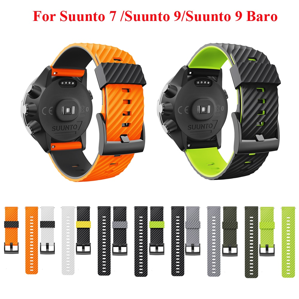 JKER Silicone Rubber Watch Strap For Suunto 7 Smart Watch Wristband Strap For Suunto 9 Watch For Suunto 9 Baro Watch Band free delivery replacement sport band for suunto core rubber soft watch strap tpu wristband
