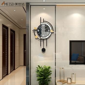 MEISD Modern Clock Creative Quartz Watch Vintage Wall Art Poster Home Decor Silent Interior House Decor Horloge Free Shipping