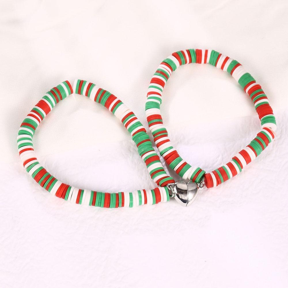 Fashion Magnetic Love Adsorbable Resin Adjustable Pendant Bracelet For Mens Womens Couples Christmas
