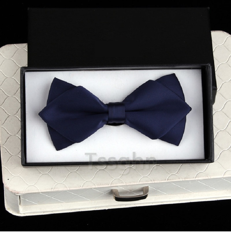 2020 New Fashion Designer Men's Bow Ties Double Fabric Matte Arrow Bow Tie Wedding Bridegroom Party Butterfly Tie with Gift Box
