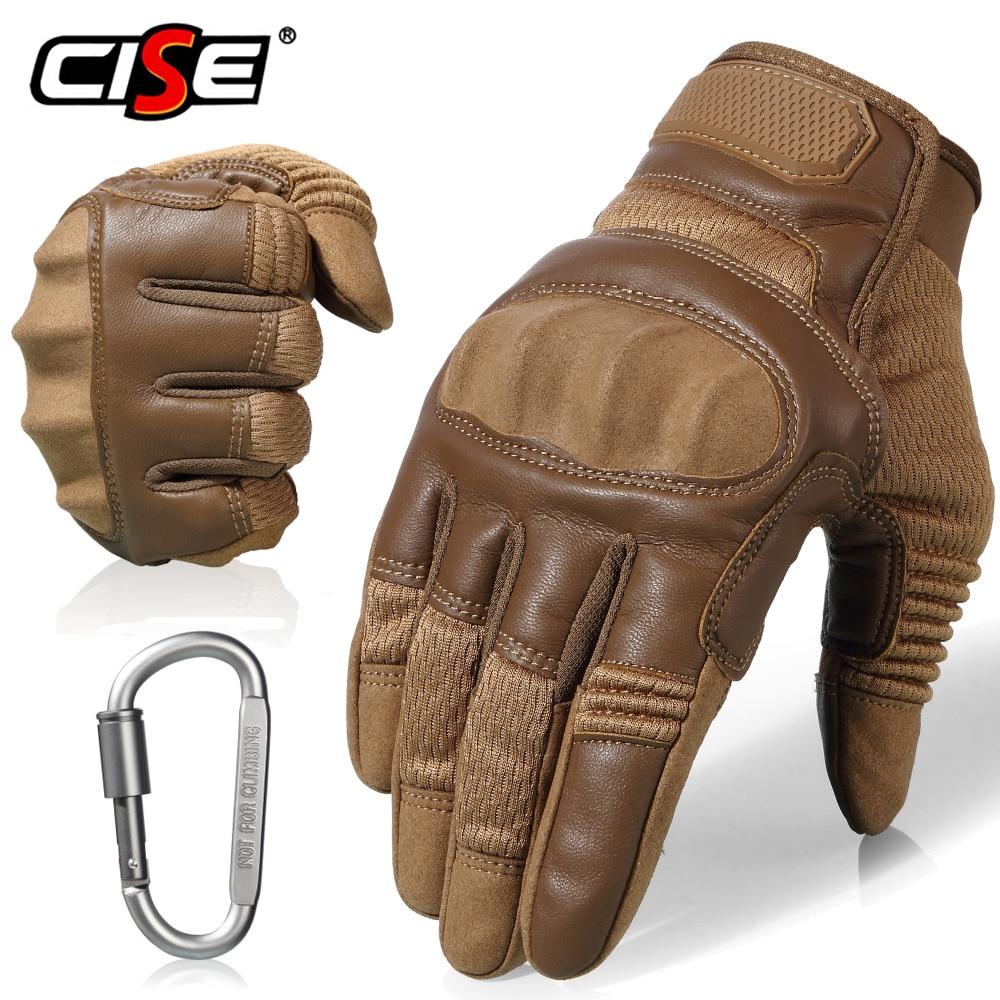 Touchscreen PU Leather Motorcycle Full Finger Gloves Protective Gear Racing Biker Riding Motorbike Moto Motocross Men 2021