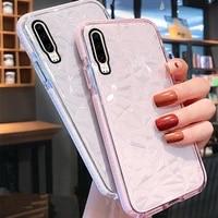 3d diamond transparent phone case for xiaomi redmi redmi note 8 pro note8 k20 pro k30 soft silicone jelly back cover