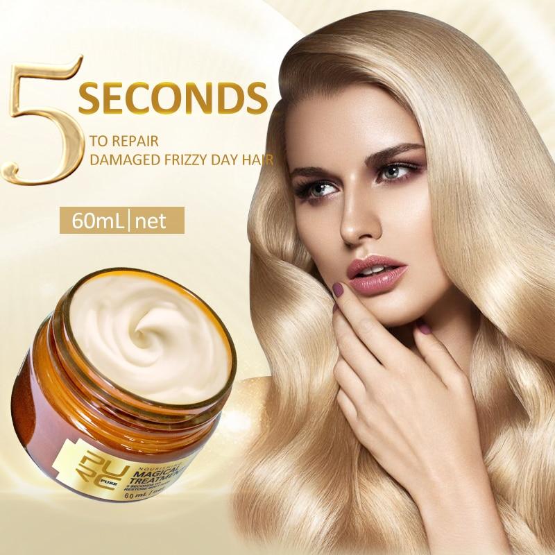 Reproductores mágico tratamiento máscara 5 segundos repara el daño restaurar el cabello...