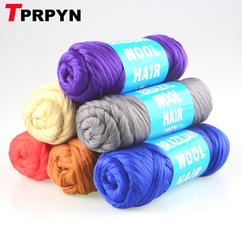 TPRPYN 1Pc=70g 100% acrylic Desire for hair yarn Brazilian wool hair for braiding African Wig Hair Yarn Braid Hair Dreadlocks