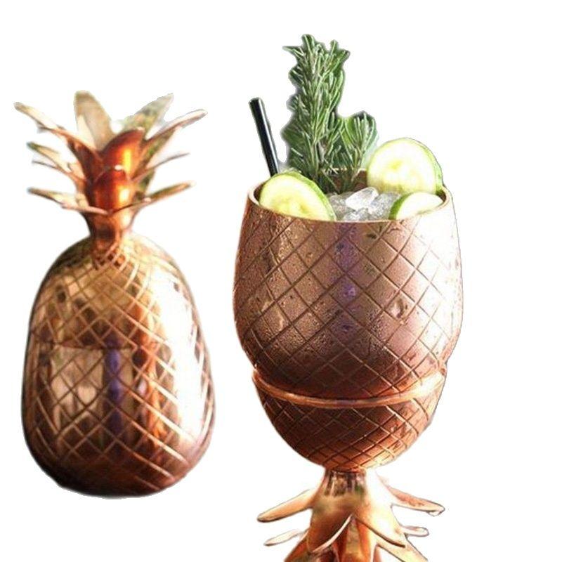 304 الفولاذ المقاوم للصدأ الأناناس كوكتيل الزجاج الإبداعية النبيذ نمط خاص كأس للنبيذ ل Bartending المعادن كأس للنبيذ 500 مللي