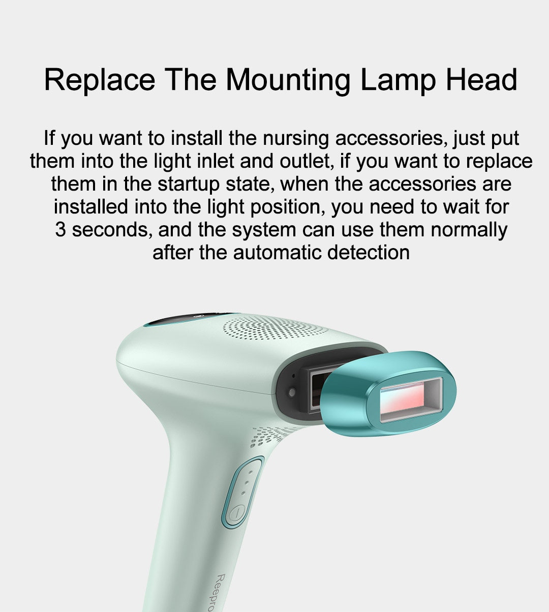 Xiaomi Reepro IPL Laser Hair Removal Permanent Painless Laser Hair Removal Machine Female Epilator Photoelectric Epilator enlarge