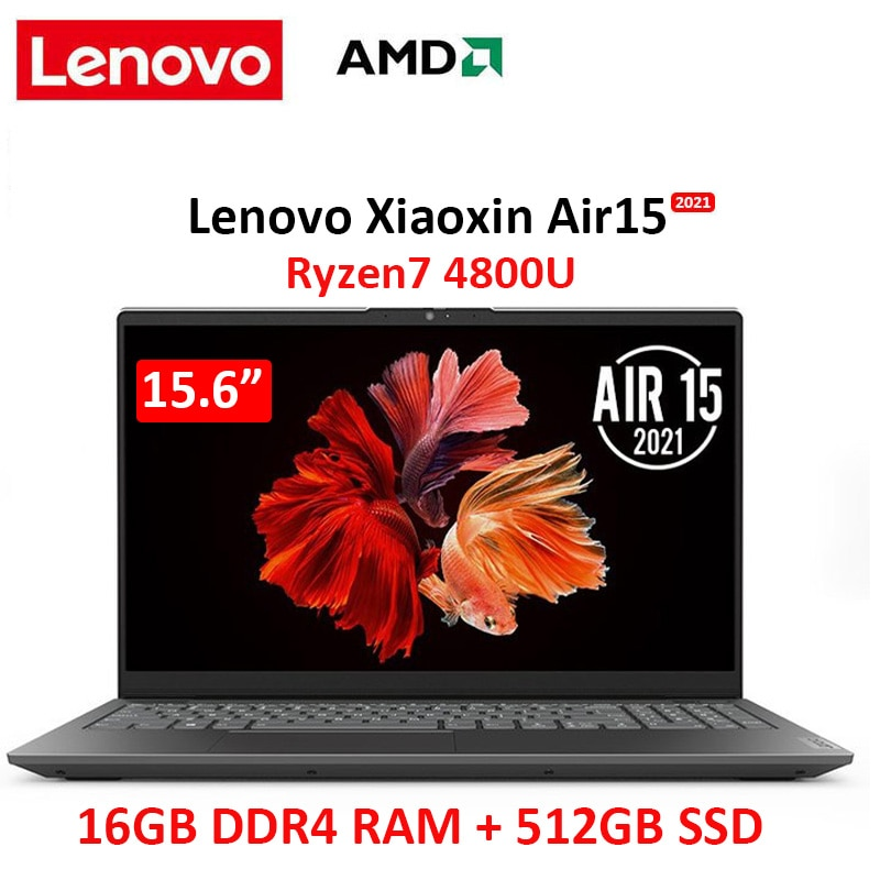 Review lenovo 2021 air 15.6 laptop AMD Ryzen 7 4800U 16GB  RAM 512GB  SSD  Notebook computer FHD IPS screen Ultraslim laptop