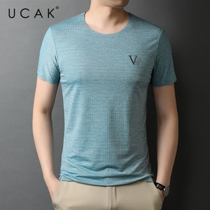 UCAK Brand Classic O-Neck Solid Color Short Sleeve T-Shirts Summer New Fashion Arrivals Streetwear Casual T Shirt Homme U5549