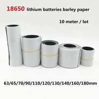 10 meter 18650 li ion battery insulation gasket barley paper pack cell insulating glue patch electrode insulated pads 0 2mm