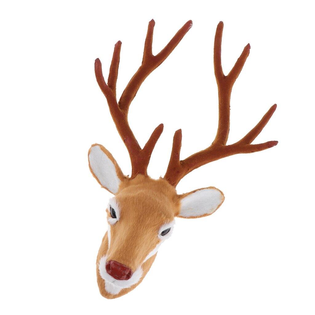 Realistic Animal Simulation 10'' Faux Fur Deer Head Wall Hanging Sculptures