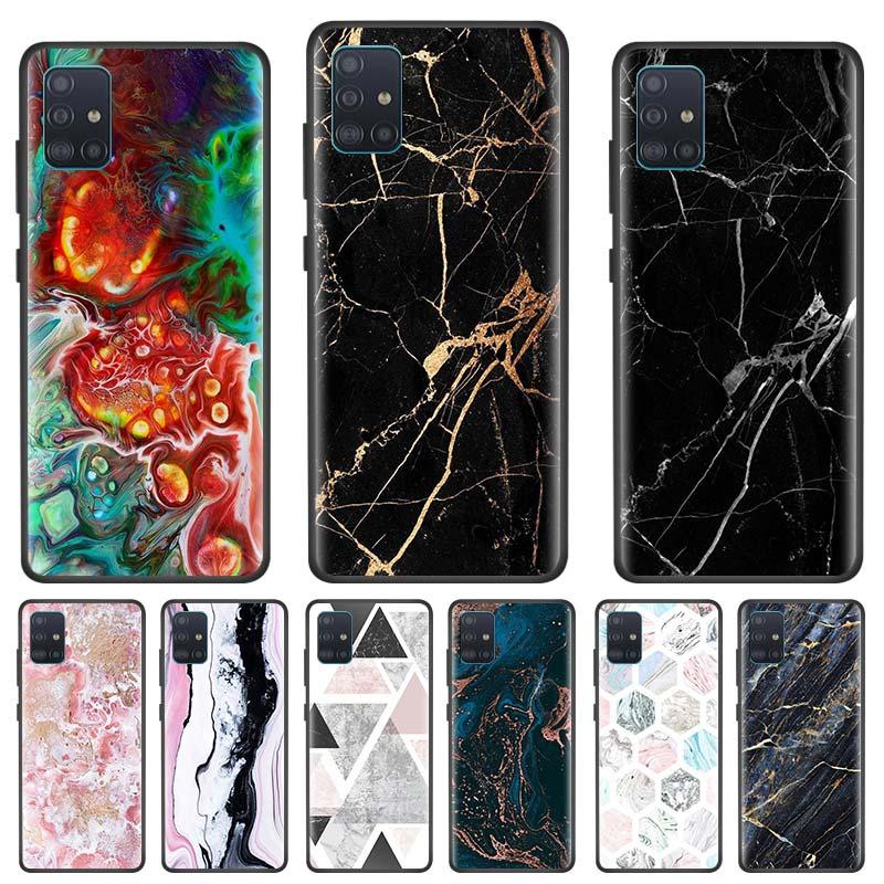 Caso de mármore de luxo original para samsung galaxy a51 a71 s20 plus ultra 5g a81 a91 a01 a21 nota 10 s10 lite telefone capa