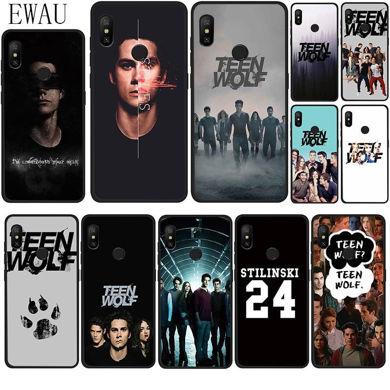 EWAU Teen Wolf Stilinski caso do telefone do Silicone para Xiaomi Redmi Nota 4 4X5 6 7 8 Pro 5A prime