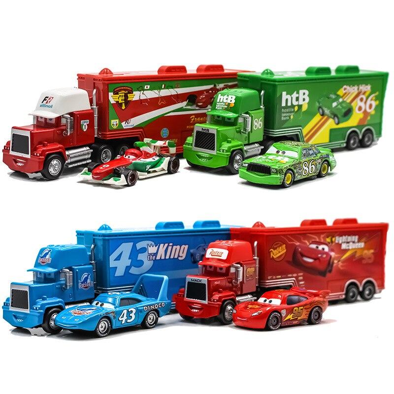 Disney Pixar Cars3 juguetes Lightning McQueen 155 Diecast Jackson Storm Mater Metal aleación modelo niños Regalo de Cumpleaños niño Juguetes