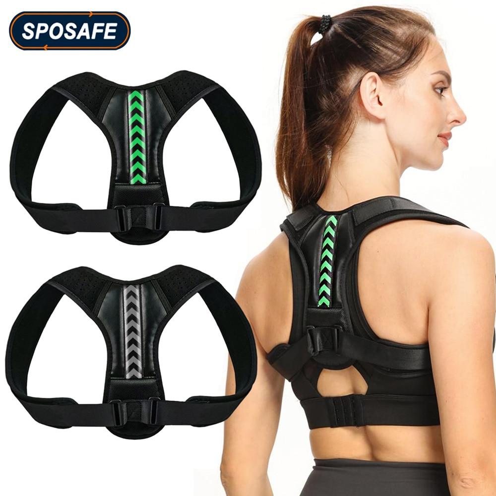 Adjustable Back Shoulder Posture Corrector Belt Clavicle Spine Support Reshape Your Body Home Office Sport Upper Back Neck Brace