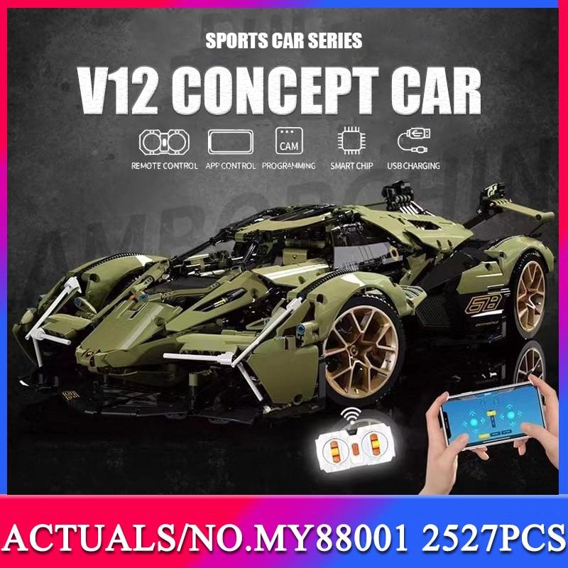 MOC 2021 2527pcs Car Building Blocks Lamborghini sian Racing Technical Vehicle Model Bricks Toys Birthday Gift For Boyfriend