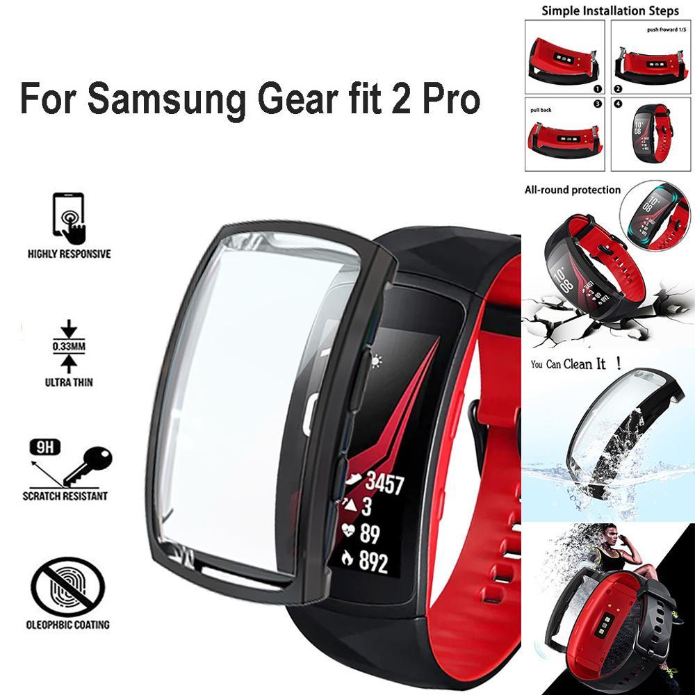 Protector de pantalla para Samnsung Gear Fit 2 Pro transparente TPU funda carcasa para Sanmsung Gear Smart Watch Accesorios