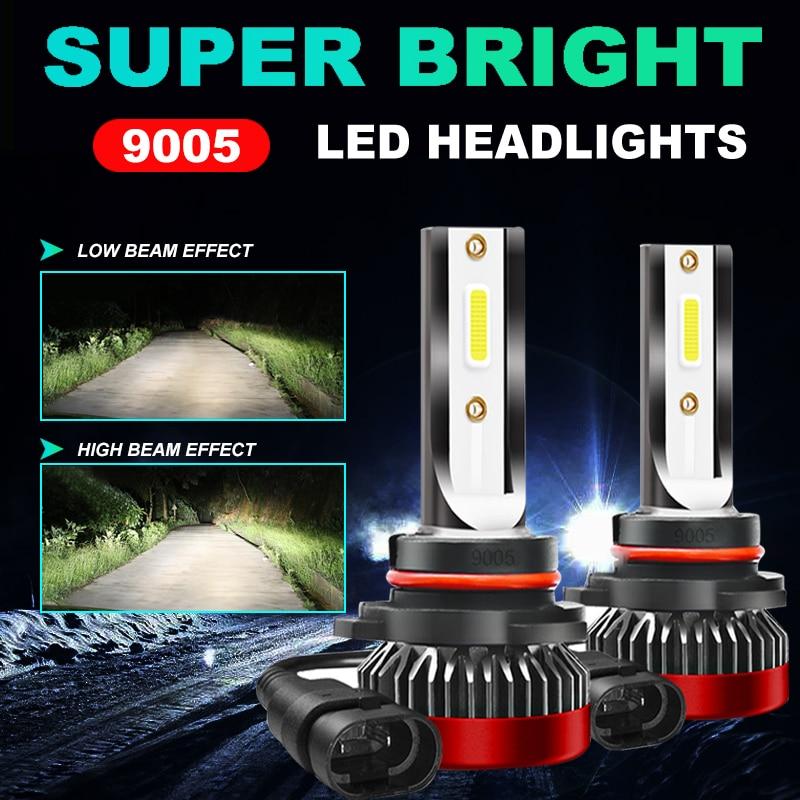 Светодиодные фары 9005/HB3, автомобильные фары 6000K, белые Автомобильные противотуманные фары 360 лм, 12 В, лампа 80 Вт/комплект, Сверхъяркие фары гра...